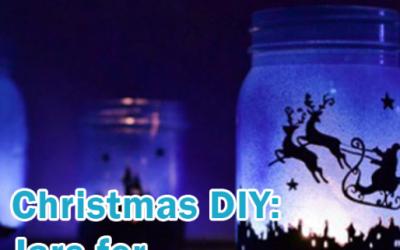 Christmas Light Jar