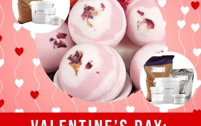 Valentine's Flower Bath Bombs