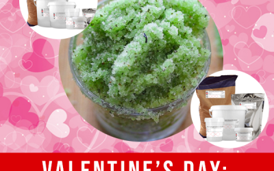 Valentine's Green Tea Scrub